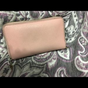 Authentic MK light pink wallet
